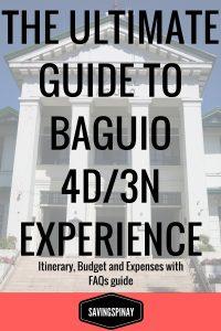 Baguio 4 Days + 1 Night