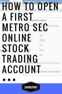 Open-a-First-Metro-Sec-Online
