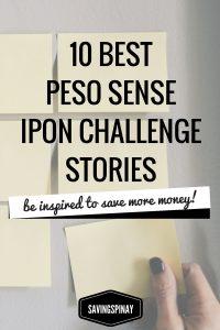 Best Peson Sense Ipon Challenge