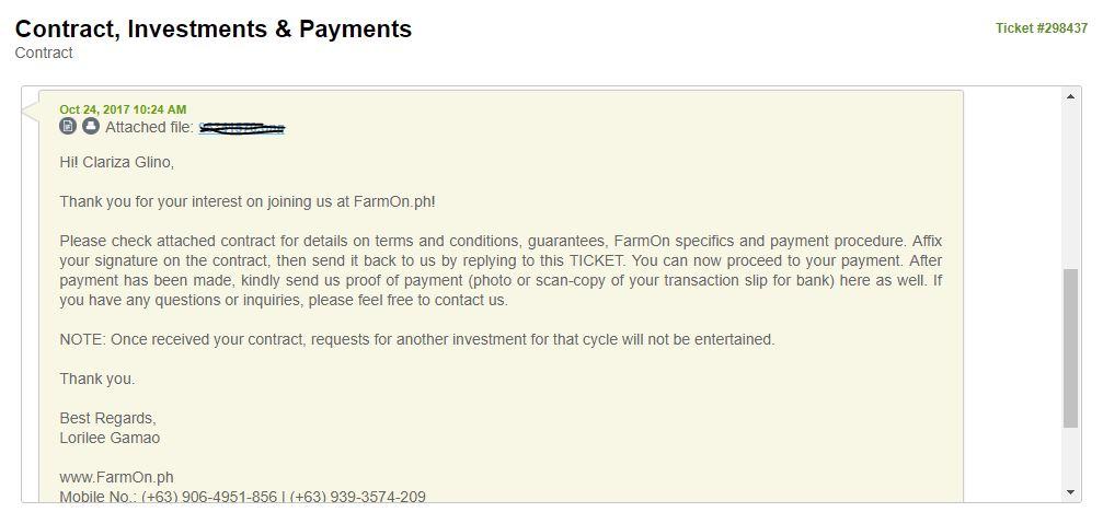 FarmOn Contract