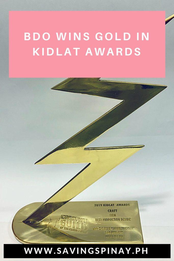 BDO wins Gold in Kidlat Awards - SavingsPinay